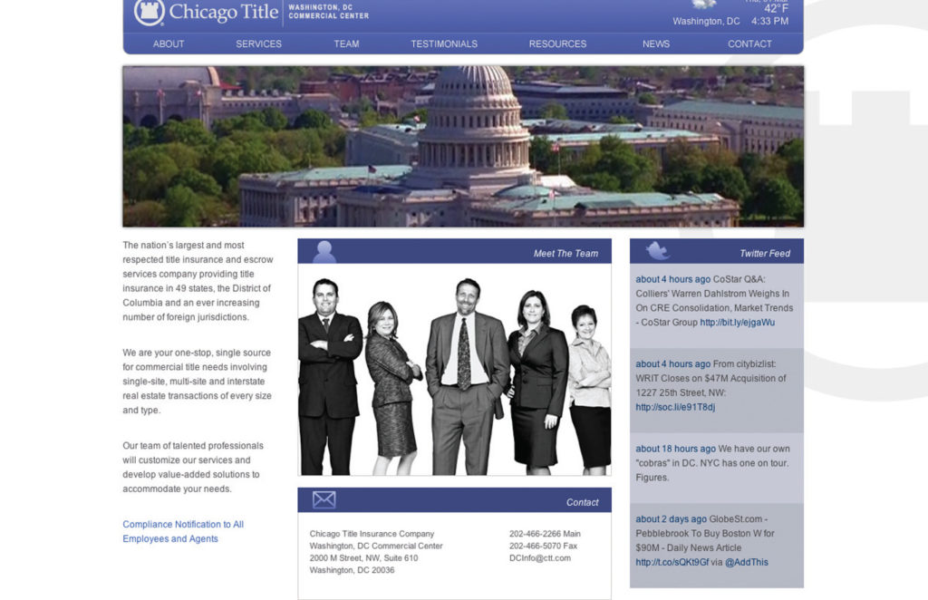 Chicago Title Insurance Company Website