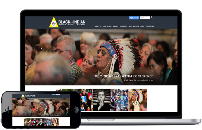 Catholic Church website, non-profit website, non-profit ad agency