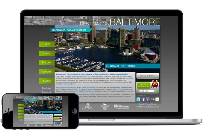 baltimore hotel website design ad agency