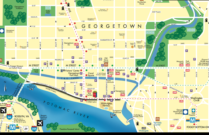 georgetown map, dc map design agency