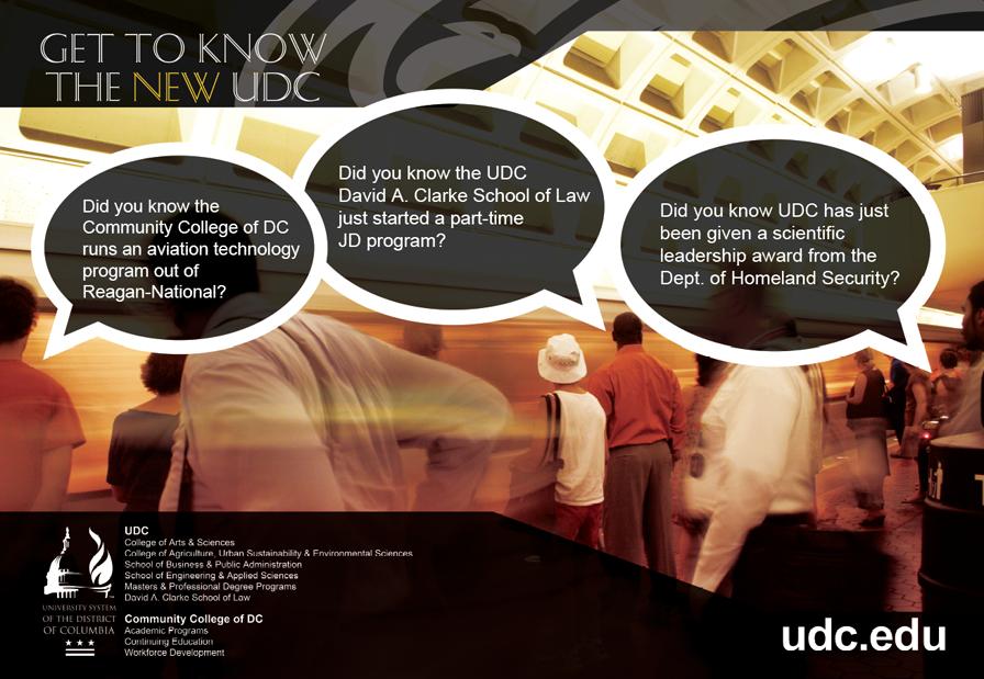 UDC ad, University ad