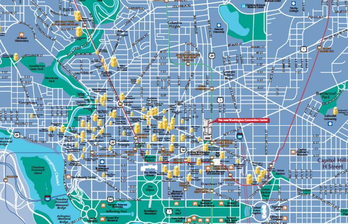 washington dc maps, creator of map of dc debi gasper