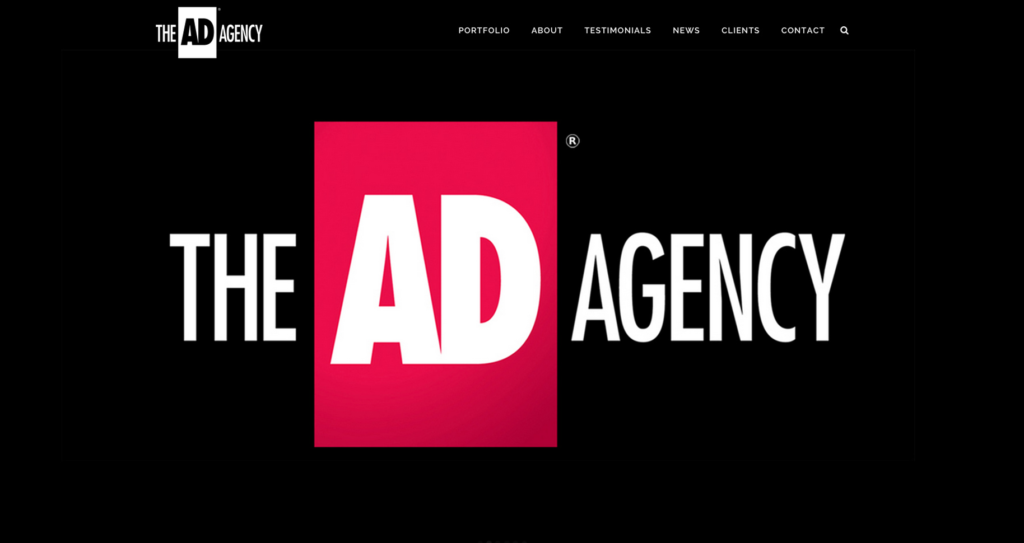 The AD Agency new website, advertising agency website,