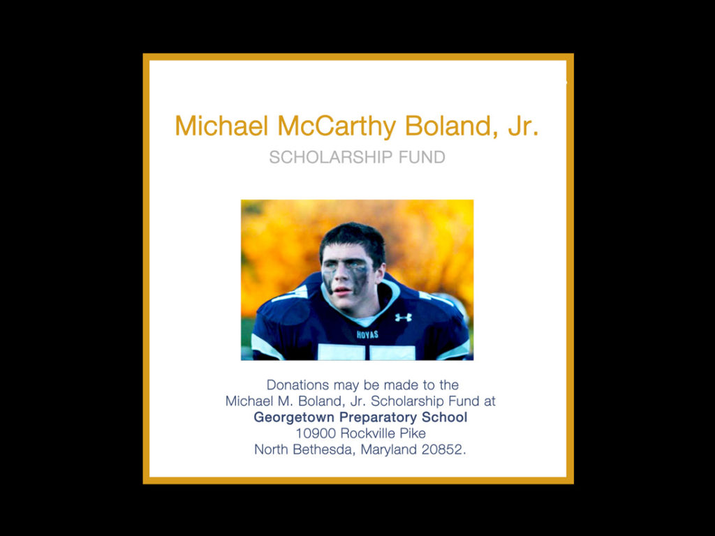 Michael M. Boland, Jr. Scholarship Fund