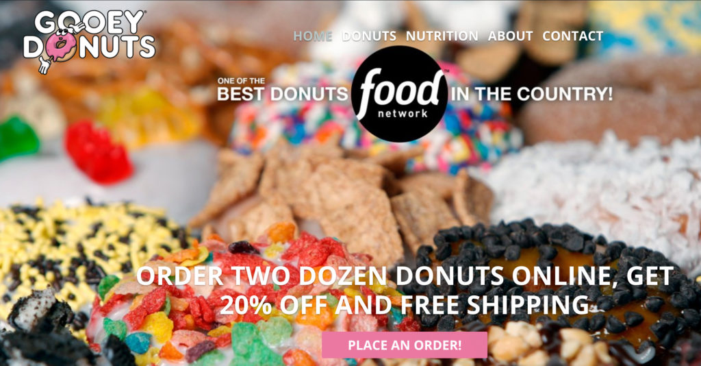 Gooey Donuts order online nationwide free shipping
