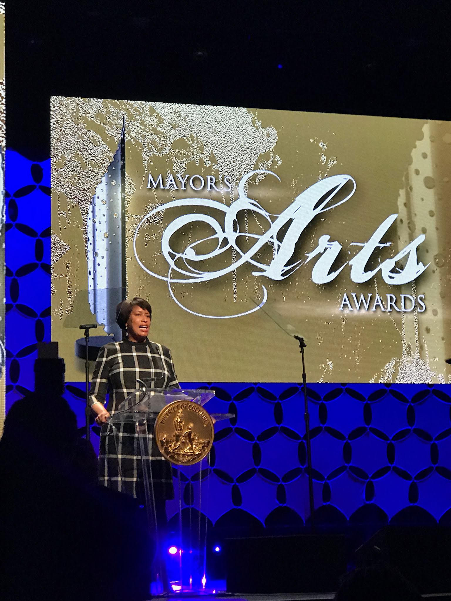 Mayor Muriel Bowser at Mayor's Arts Awards