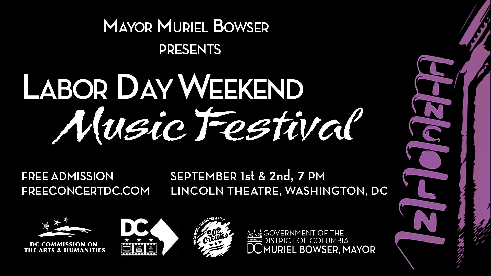 DC Commission on the Arts and Humanities- Labor Day Music Festival