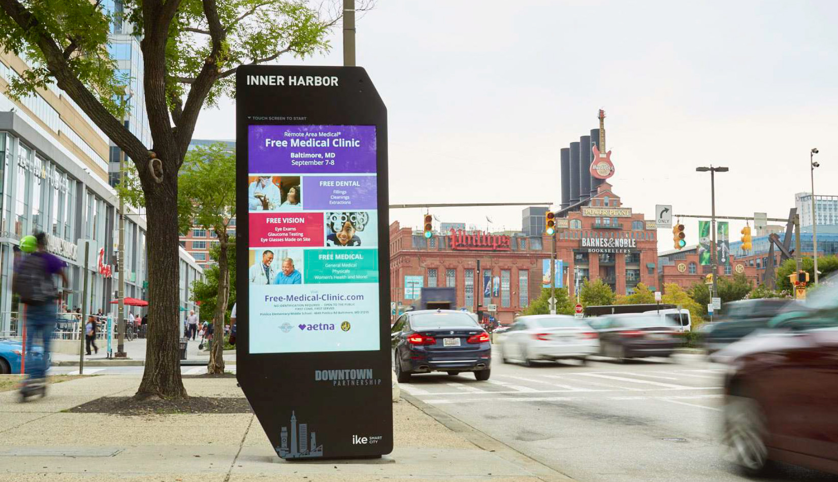 Remote Access Medical digital billboard at the Inner Harbor