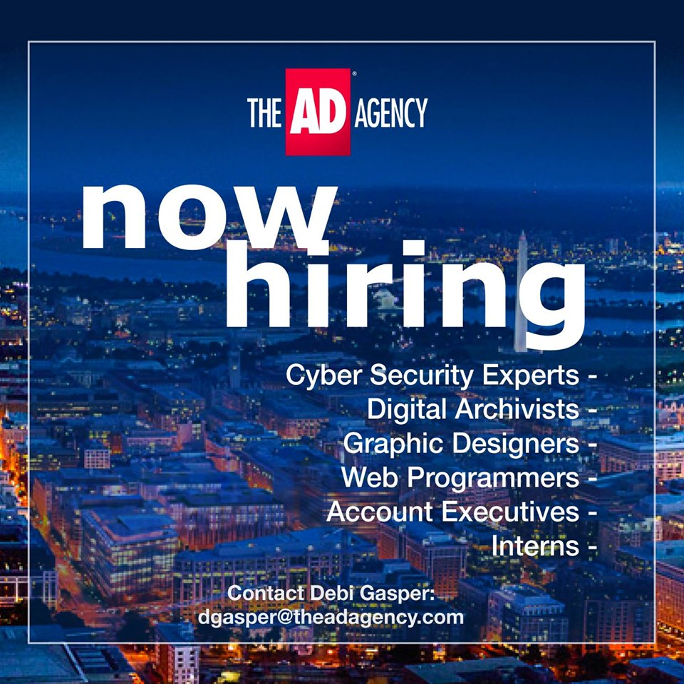 The Ad Agency is now hiring - contact dgasper@theadagency.com