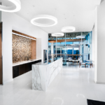The reception area at the Ad Agency's new offices, located at 1441 L Street, NW, in Washington, DC