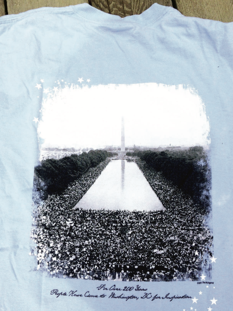 The Ad Agency designed this inspirational Washington, DC t-shirt in 2013 for the 50th Anniversary of the Iconic 'I have a dream' speech and civil rights march.