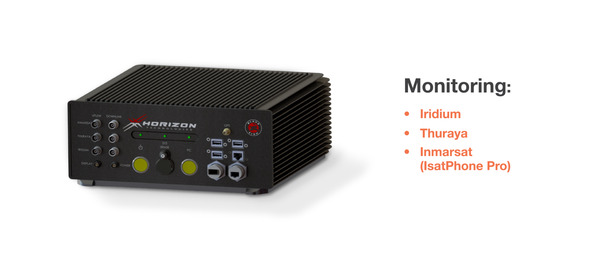 Horizon Technologies Announces New BlackFish™, a small airborne qualified, Sat Phone SIGINT system which simultaneously monitors the Iridium, Thuraya, and Inmarsat IsatPhone Pro.
